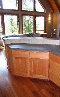 Countertop, Backsplash and Flooring Installed by Labrador Floors and Tile